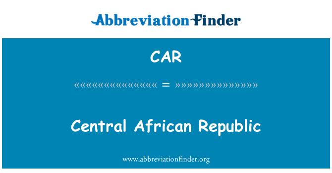 CAR: Central African Republic
