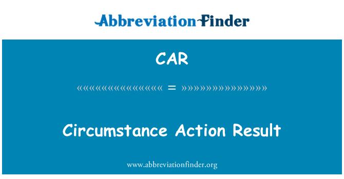 CAR: Circunstancia acción resultado