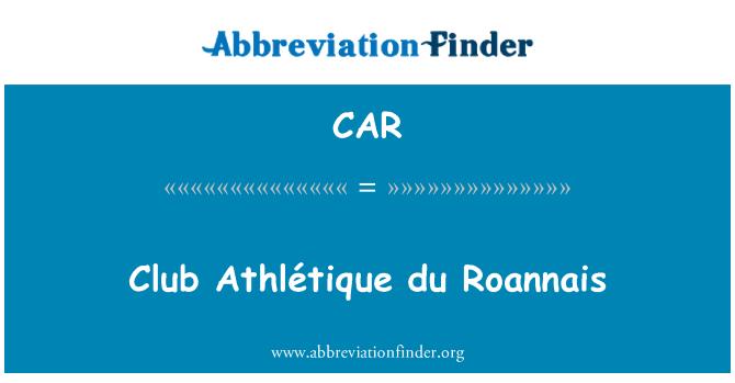 CAR: Club Athlétique du Roannais