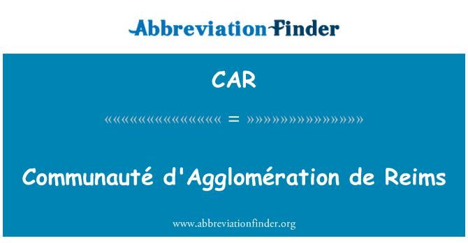 CAR: Communauté d'Agglomération de Reims