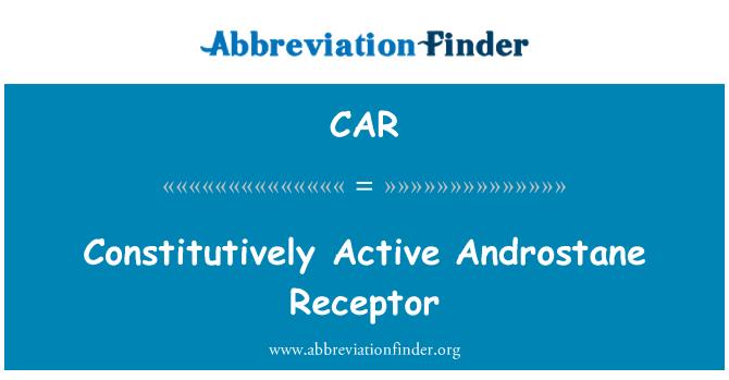 CAR: Constitutivamente activa receptores androstano