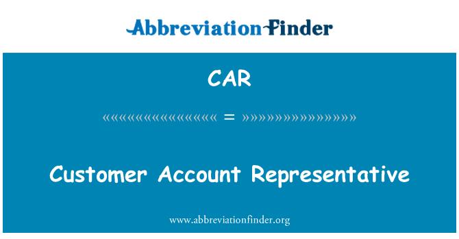 CAR: Representante de cuentas de cliente