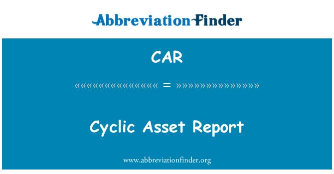 CAR: Informe activo cíclico