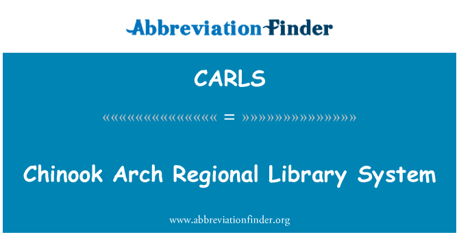 CARLS: Chinook Arch Regional Library System