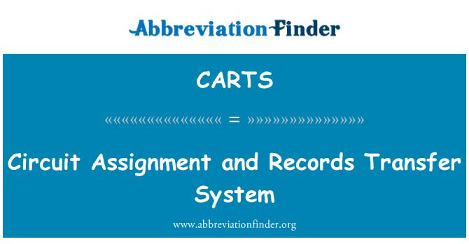 CARTS: Transfer sistemi devre atama ve kayıtlar