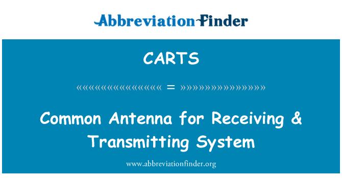 CARTS: Alma & sistemi iletmek için ortak anten