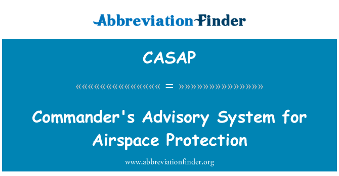 CASAP: Commander's Advisory System for Airspace Protection
