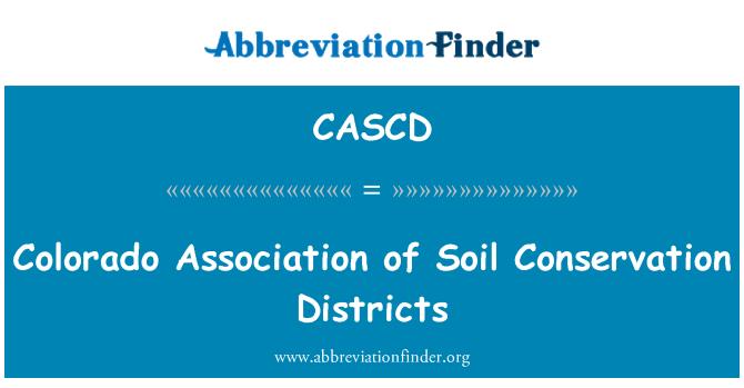 CASCD: Colorado asociace okresů ochrany půdy