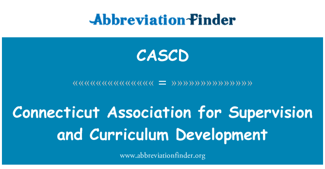CASCD: Connecticut društvo za superviziju i razvoj kurikuluma