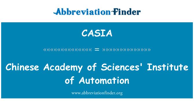 CASIA: Instituto de automatización de la Academia China de Ciencias