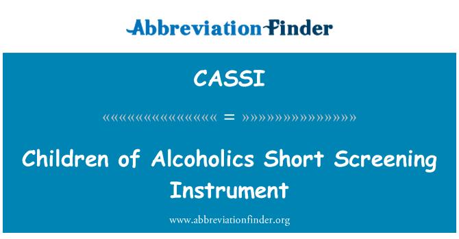 CASSI: Los hijos de los alcohólicos corto instrumento de proyección