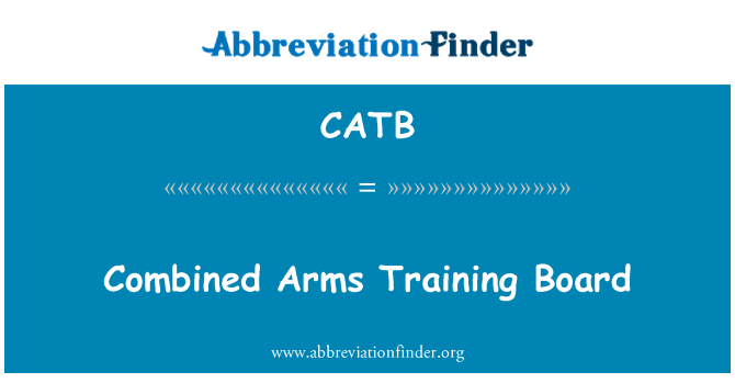 CATB: Combined Arms Training Board