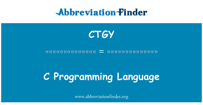 CTGY: Bahasa pengaturcaraan C