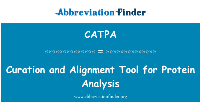 CATPA: کوراشن اور پروٹین تجزیہ کے لیے سیدھ کے آلے