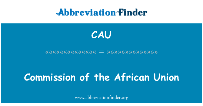 CAU: Commission of the African Union