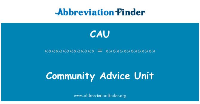 CAU: Community Advice Unit