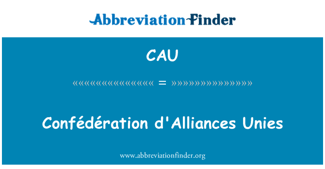 CAU: Confédération alianzas Unies