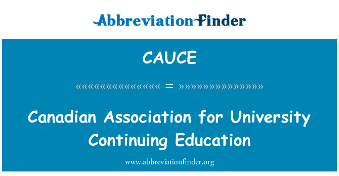 CAUCE: Kanados universiteto tęstinio mokymo asociacija