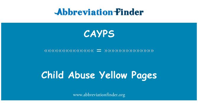 CAYPS: Páginas amarillas abuso de niño