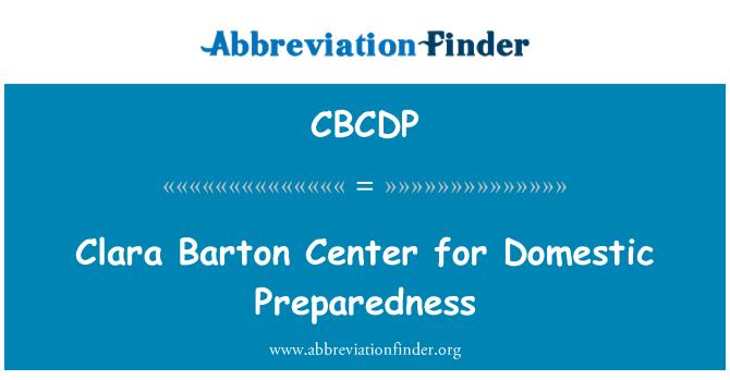 CBCDP: Clara Barton centrum pro domácí připravenost