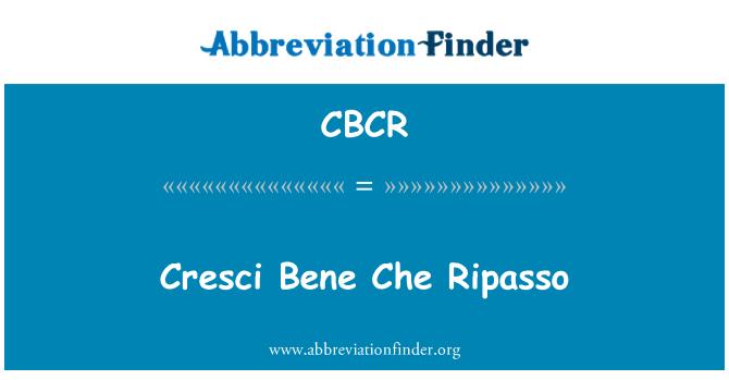 CBCR: Cresci Bene Ripasso