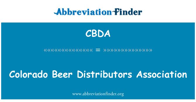 CBDA: Colorado Beer Distributors Association