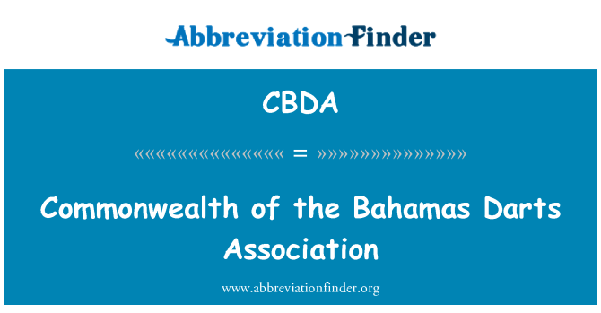CBDA: Commonwealth of the Bahamas Darts Association