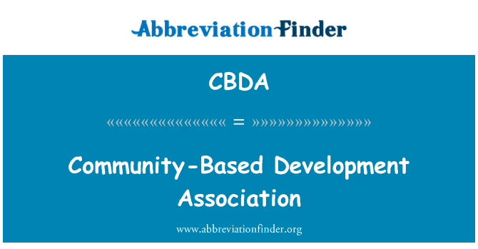 CBDA: Community-Based Development Association