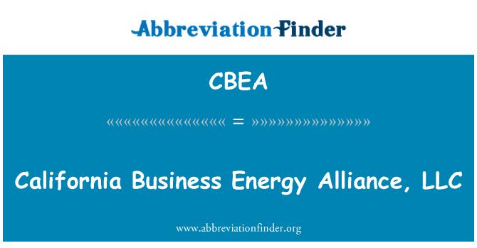 CBEA: California Business Energy Alliance, LLC