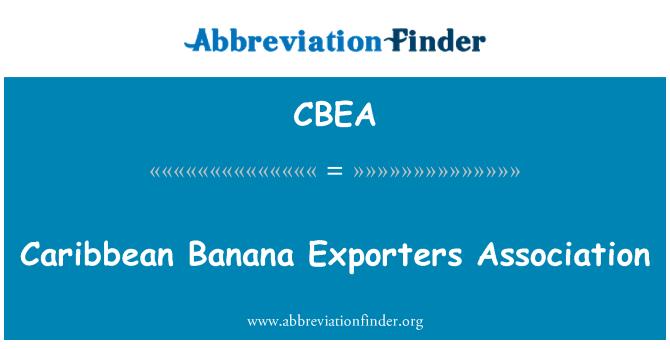 CBEA: Caribbean Banana Exporters Association