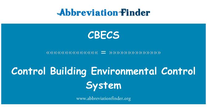 CBECS: Kontrolli hoone keskkonna juhtimissüsteemi