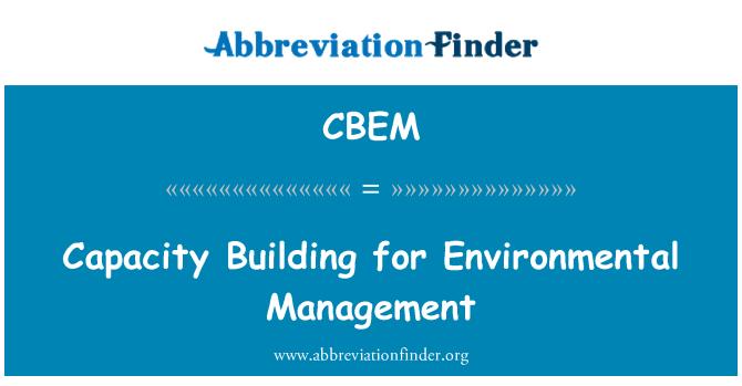 CBEM: Capacity Building for Environmental Management