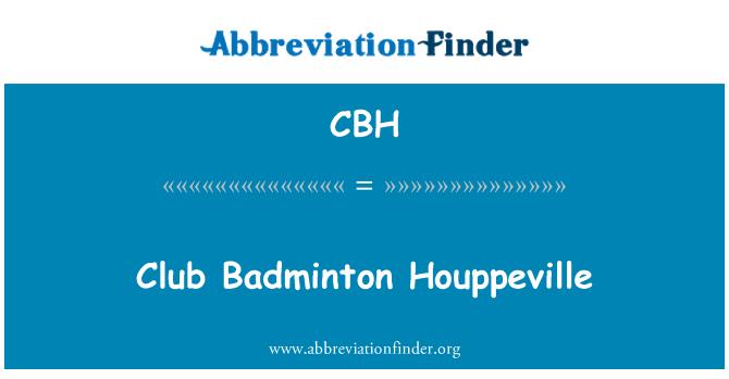 CBH: Club bádminton Houppeville