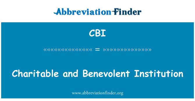 CBI: Institución caritativa y benevolente