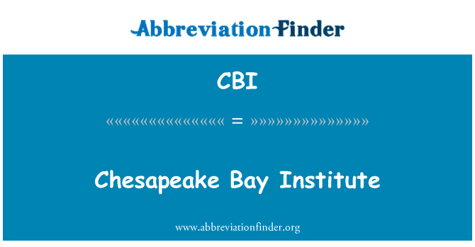 CBI: Chesapeake Bay Institute