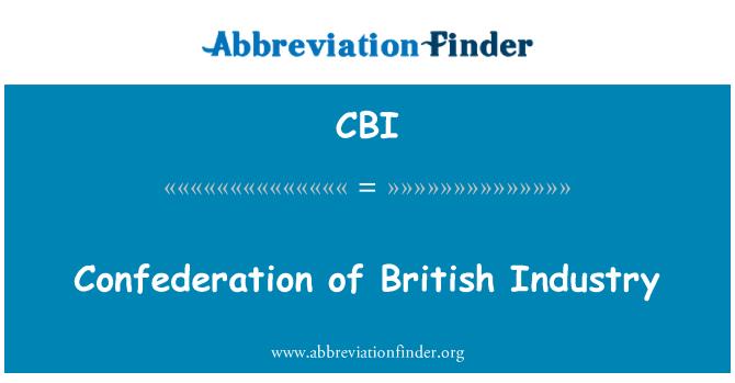 CBI: Confederation of British Industry