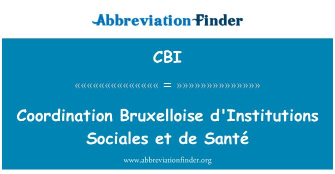 CBI: Coordination Bruxelloise d'Institutions Sociales et de Santé