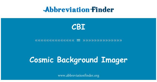 CBI: Cosmic Background Imager