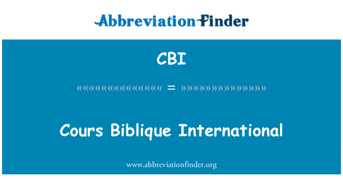 CBI: Cours Biblique International