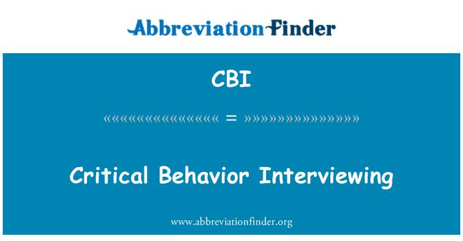 CBI: Entrevistando a comportamiento crítico