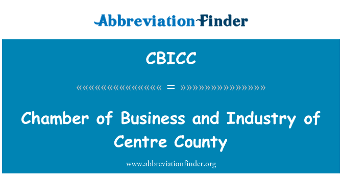 CBICC: Chamber of Business and Industry of Centre County