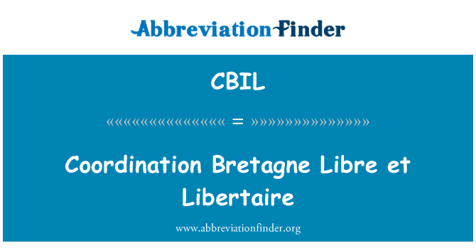 CBIL: هماهنگی Bretagne رایگان و همکاران Libertaire