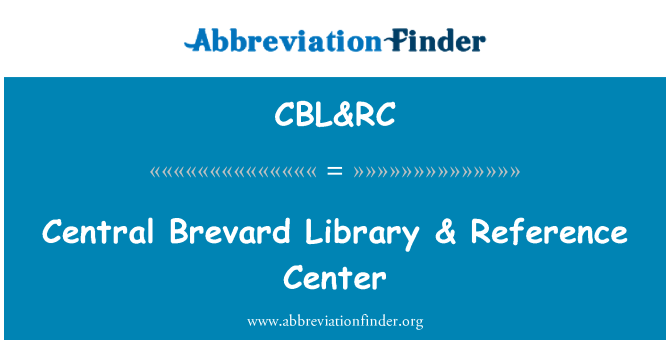 CBL&RC: Central Brevard Library & Reference Center