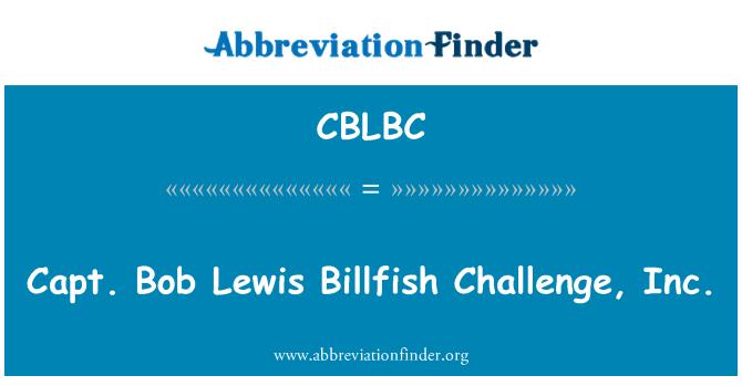 CBLBC: Capt. Bob Lewis Billfish Challenge, Inc.