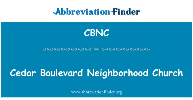 CBNC: Cedar Boulevard Neighborhood Church