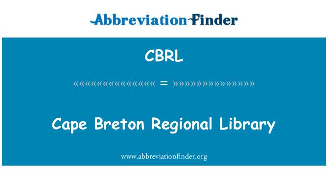 CBRL: Cape Breton piirkondliku Raamatukogu