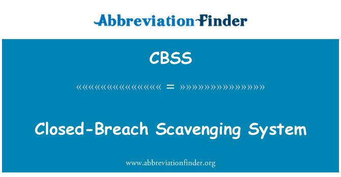 CBSS: Closed-Breach Scavenging System