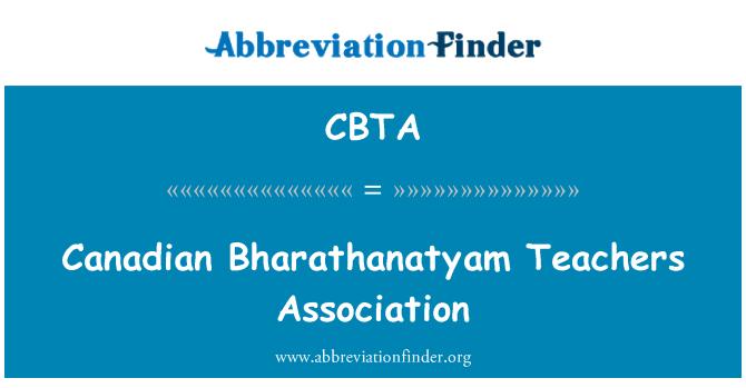 CBTA: Canadian Bharathanatyam Teachers Association