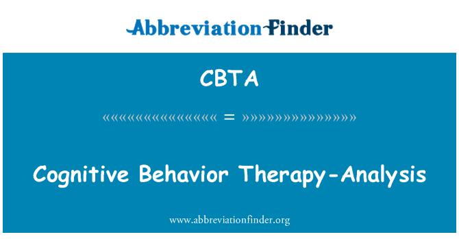 CBTA: Cognitive Behavior Therapy-Analysis
