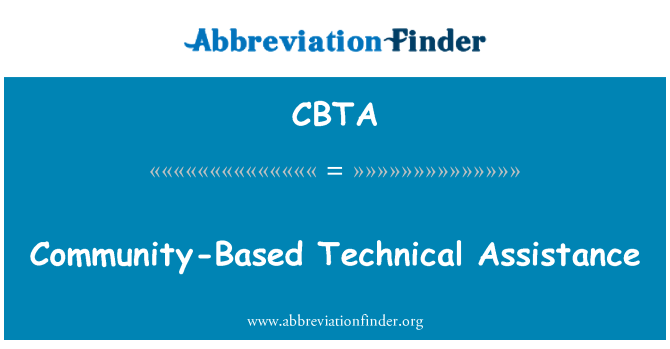 CBTA: Community-Based Technical Assistance